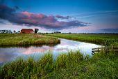 Little Farmhouse At Sunset