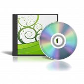 Dvd Box With A Generic Design In Green And White