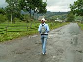 Walking Country Road