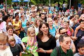 Crowd Gathers To View Release Of Butterflies At Summer Festival