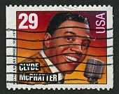 USA - CIRCA 1993: A stamp printed in USA shows image of the Clyde Lensley McPhatter was an American