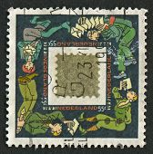 NETHERLAND - CIRCA 1991: A stamp printed in Netherland shows image of the Mail Netherland, circa 199