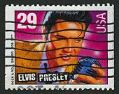 USA - CIRCA 1993: A stamp printed in USA shows image of the Elvis Aaron Presley a (January 8, 1935 -