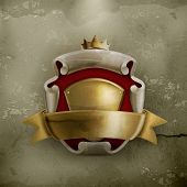 stock photo of emperor  - Abstract ancient coat of arms - JPG