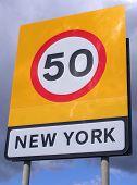 New York Speed Sign