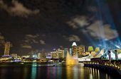 Laser show performed at Marina Bay Sands