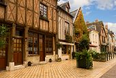 timbered houses in Amboise, France