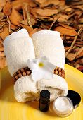 Seasonal Spa Products In The Fall Or Autumn