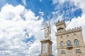 Liberty Statue And Public Palace, San Marino Republic,