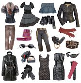 pic of debauchery  - set of fashionable stylish clothes - JPG