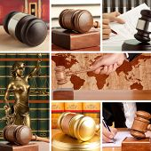 Set of wooden gavel and law 4