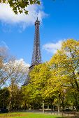 Eiffel Tower at autumn, France