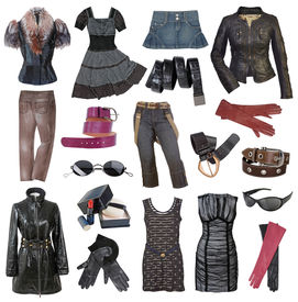 picture of debauchery  - set of fashionable stylish clothes - JPG