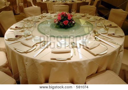 Chinese wedding banquet table setting poster. ID 581074 & Wedding Banquet Table Setting Poster ID:581074