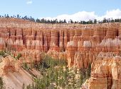 stock photo of hoodoo  - Hoodoos of Bryce Canyon National Park - JPG