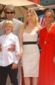 David E. Kelley with Michelle Pfeiffer and family at the ceremony honoring Michelle Pfeiffer with the 2,345th star on the Hollywood Walk of Fame. Hollywood Boulevard, Hollywood, CA. 08-06-07
