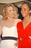 Michelle Pfeiffer and daughter Claudia Rose at the ceremony honoring Michelle Pfeiffer with the 2,34