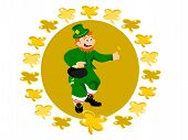 leprechaun coin circle clover