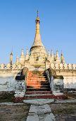 stock photo of nu  - Burmese Pagoda At Maha Aungmye Bonzan Monastery In Inwa - JPG