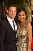 Justin Chambers and wife Keisha  arriving at the 59th Annual Primetime Emmy Awards. The Shrine Auditorium, Los Angeles, CA. 09-16-07