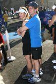 William H. Macy and Felicity Huffman at The 21st Nautica Malibu Triathlon Presented By Toyota. Zuma