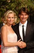 Rebecca Romijn and Jerry O'Connell  arriving at the 59th Annual Primetime Emmy Awards. The Shrine Auditorium, Los Angeles, CA. 09-16-07