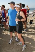 William H. Macy and Felicity Huffman at The 21st Nautica Malibu Triathlon Presented By Toyota. Zuma