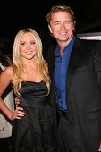Amanda Bynes and John Schneider at the Los Angeles premiere of