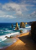 stock photo of 12 apostles  - closeup of beautiful 12 apostles in Australia - JPG