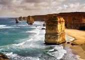 foto of 12 apostles  - closeup of beautiful 12 apostles in Australia - JPG