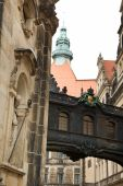 Narrow Street In Dresden