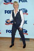 Ellen DeGeneres at the American Idol:
