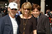 Steven Spielberg with Kate Capshaw and Mike Myers  at the Los Angeles Premiere of