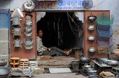 Street Stall With The Self-built Objects Of Meta In India