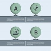 infographics abstract element with text areas. vector