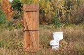 Toilet In The Field