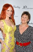 Phoebe Price and Sharon Pirabasso at the launch of Phoebe's Phantasy by Lotion Glow. Kaje Boutique, Beverly Hills, CA. 06-16-07