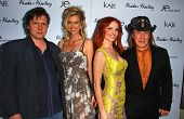 Karl Seelig and Anita Seelig with Phoebe Price and Jose Eber at the launch of Phoebe's Phantasy by Lotion Glow. Kaje Boutique, Beverly Hills, CA. 06-16-07