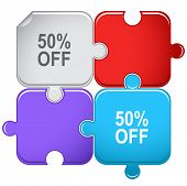50% OFF. Raster puzzle.
