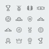 Vector Awards Mini Icons Set