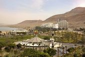 Resort Village Of Ein Bokek On The Shores Of Dead Sea, Israel