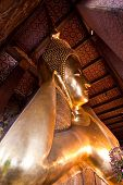 Side View Of Reclining Buddha Statue