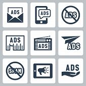 Advertisement Vector Icons Set #2