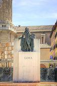 Saragossa. Monument To Francisco Goya