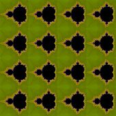 pic of mandelbrot  - Digital computer graphic - seamless ornament with fractal Mandelbrot in a green colors for design.