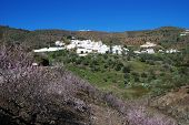 picture of pueblo  - General view of whitewashed village  - JPG