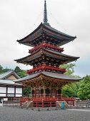 Japan. Pagoda at Narita Shinshoji temple