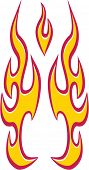 Vector Flame Decal Design