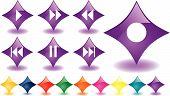 Purple Rauten als Musik-Schaltflächen