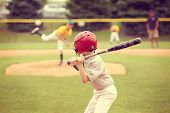 stock photo of striking  - Youth Baseball game - JPG